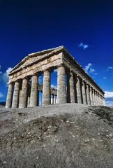 Italy, Sicily, Segesta, Greek Temple - FILM SCAN