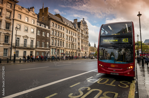 Plexiglas Londen rode bus Bus à Impériale, London