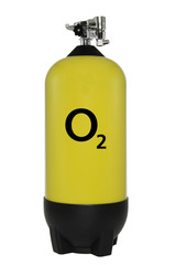 cylinder that contains hazardous substances in white background