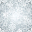 Shiny Silver Light Snowflakes Seamless Pattern for Christmas Des