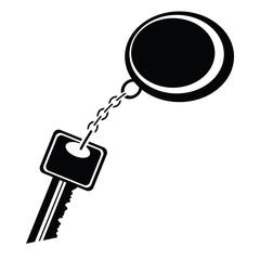 silhouette of key