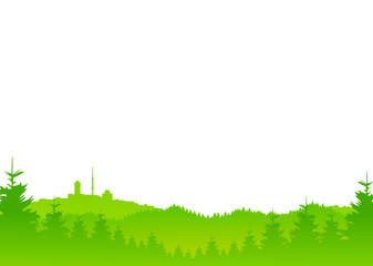 Brocken Harz grün