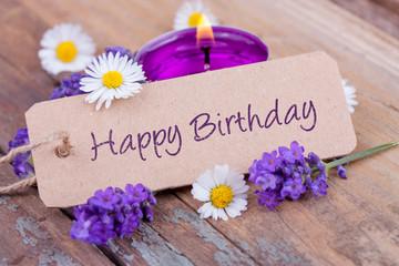Happy Birthday - Geburtstagskarte