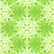 Shiny Green Snowflakes Seamless Pattern for Christmas Desing