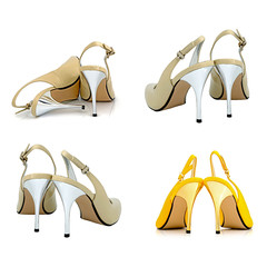 Women's shoes on a white background
