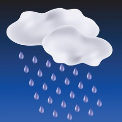clouds and drops of rain