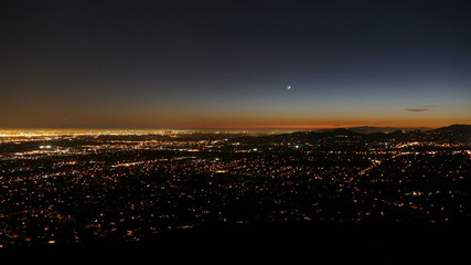 Los Angeles and Pasadena Dusk to Night Time Lapse