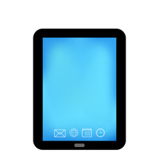Tablet computer with panel navigation, smart device isolated