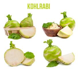 kohlrabi isolated