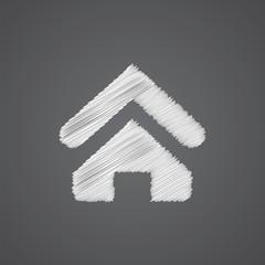 Home sketch logo doodle icon.