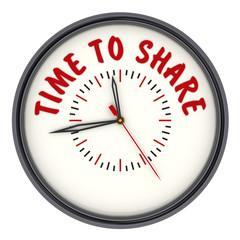 Время делиться (Time to share). Часы с надписью