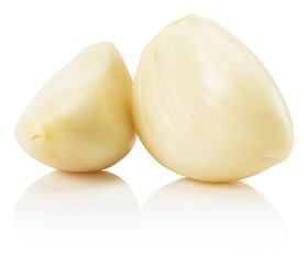garlics isolated on the white background