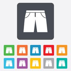 Men's Bermuda shorts sign icon. Clothing symbol.