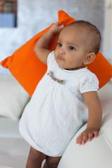 Portrait of little African American little girl - Black people