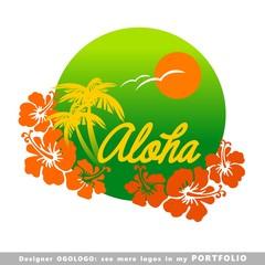 aloha, hawaii, leaves, hibiscus, floral, illustrations