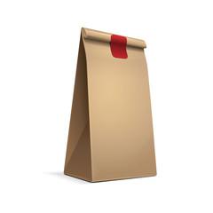 Slim Paper Bag Package Of Coffee, Salt, Sugar, Pepper