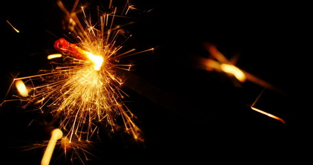 4K - Sparkler close-up