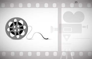 cine-film in the frame vector background