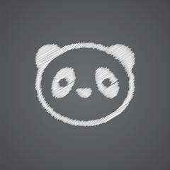 panda sketch logo doodle icon.