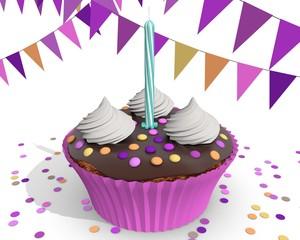 Cupcake traktatie voor meisje van één jaar