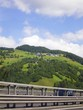 canvas print picture - Fahrt in die Berge