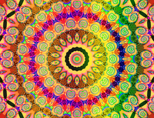beautiful colored mandala