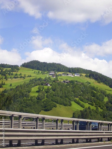 canvas print picture Fahrt in die Berge