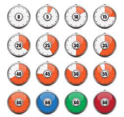 Modern timer variations. Vector illustration