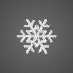 snowflake sketch logo doodle icon.