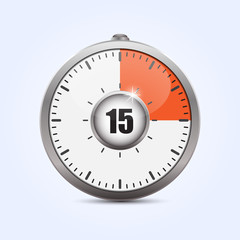 Modern timer. Vector illustration