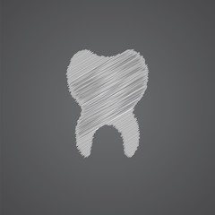 tooth sketch logo doodle icon.
