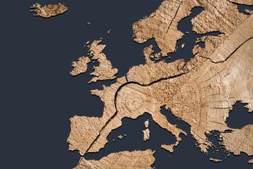 Landkarte *** Europa Holz