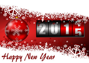 happy new year 2015 vector illustration with counter