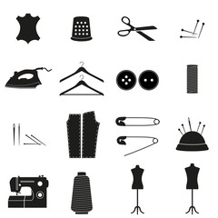 Sewing icon, set