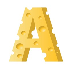 cheese letter A
