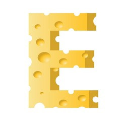 cheese letter E
