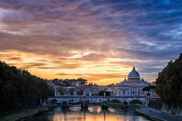 Historic Bridge Near Basilica of Saint Peter