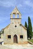 The Gothic church of S. Antonio Abate, Visnjan, Istria, Croatia poster
