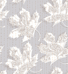 Seamless pattern delicate leaves.