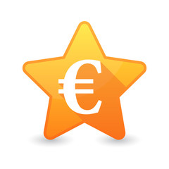 Isolated star icon with a currency sign