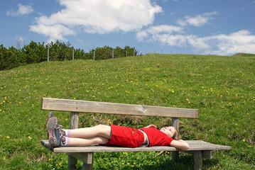 Wandern macht müde