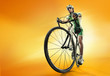 Isolated athletic cyclist. Sport - 72164438