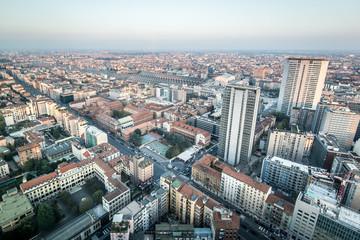 Milano - Milan aerial view from skyscraper