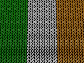 Irish Euros Flag background illustration