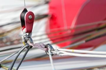 Catamaran rope tie detail
