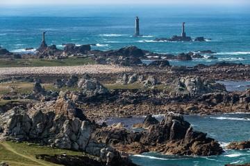 Rocky Ushant island coastline