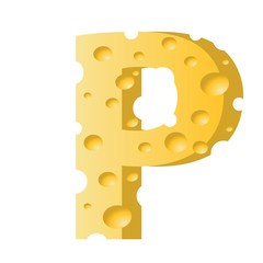 cheese letter P