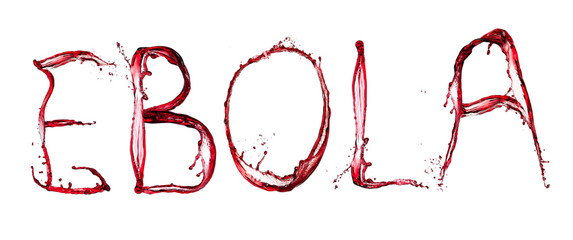 Ebola bloody text