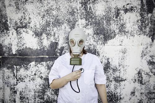 Staande foto Imagination Medicine and gas mask