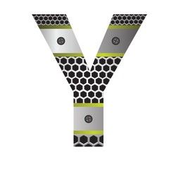 perforated metal letter Y